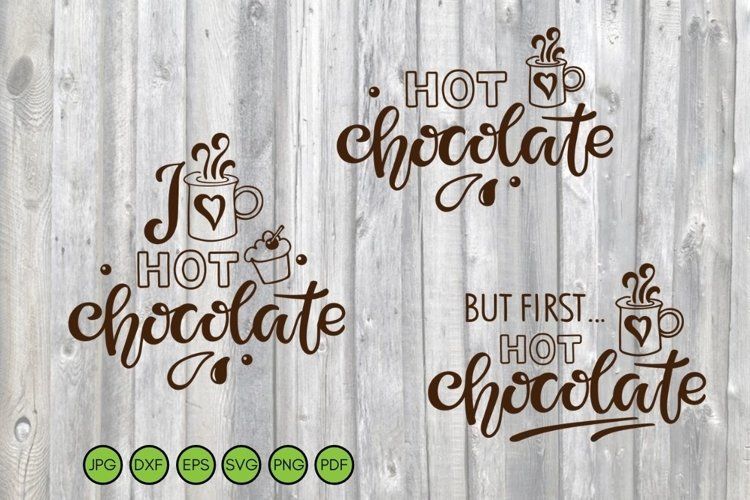 Hot Chocolate SVG PNG DXF. Christmas Cut Files. Winter svg example image 1