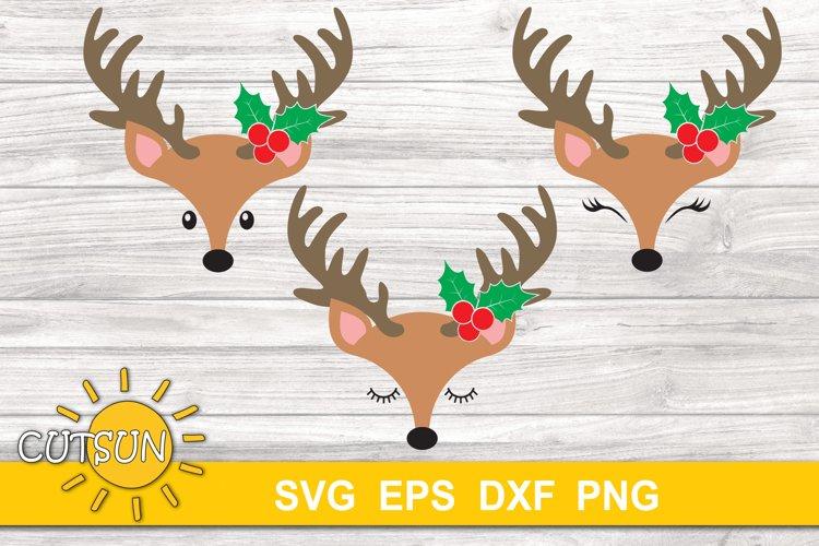 Christmas svg   Christmas Baby Reindeer face SVG