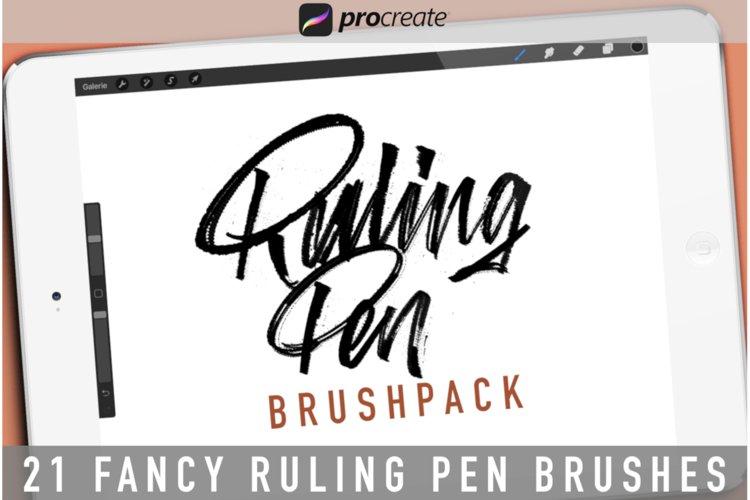 Ruling Pen Brushpack for Procreate