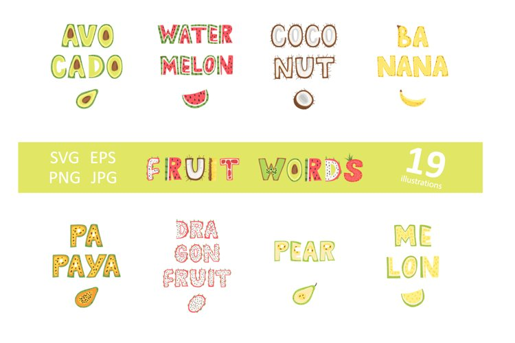 Fruit Clipart SVG, Hand lettered SVG quotes