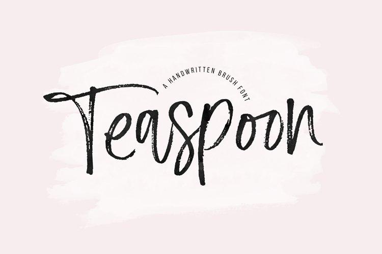 Teaspoon - A Handwritten Brush Font example image 1
