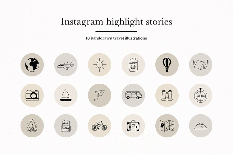 Instagram Travel Story Highlights Icons Covers example image 1