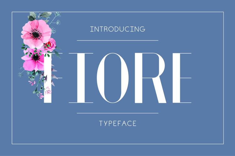 Fiore Typeface example