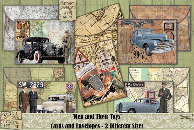 Vintage Cars | Cards | Envelopes | Masculine | Printable example image 1
