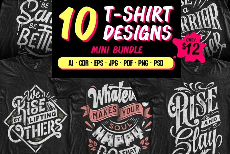 10 T-shirt Designs Mini Bundle