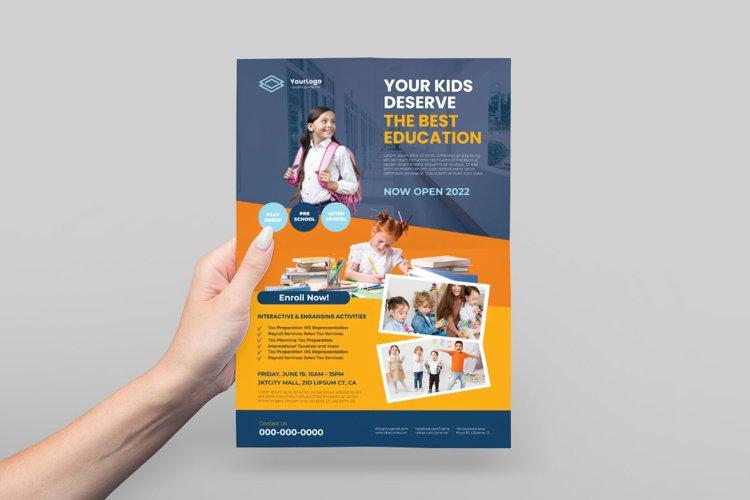 Kid's School Admission Flyer example image 1
