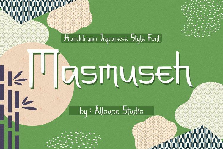 Web Font - Masmuseh example image 1