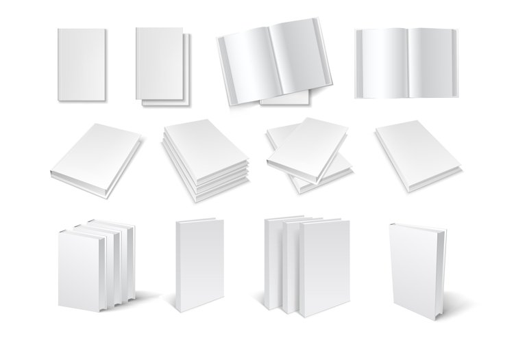 Blank book templates set example image 1