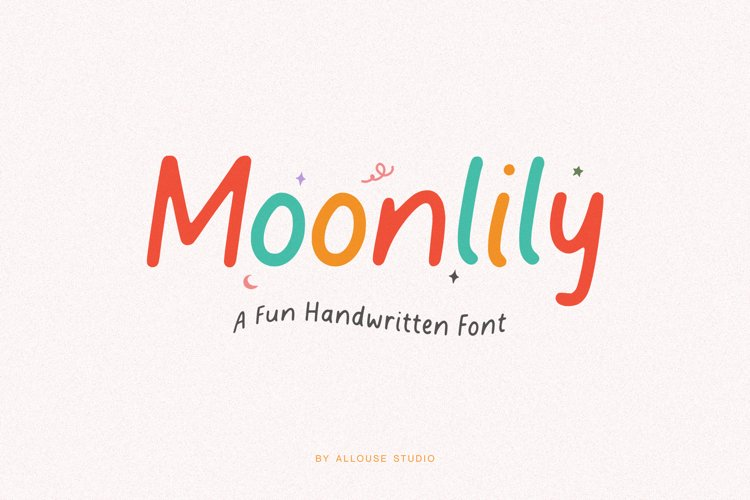 Web Font - Moonlily example image 1