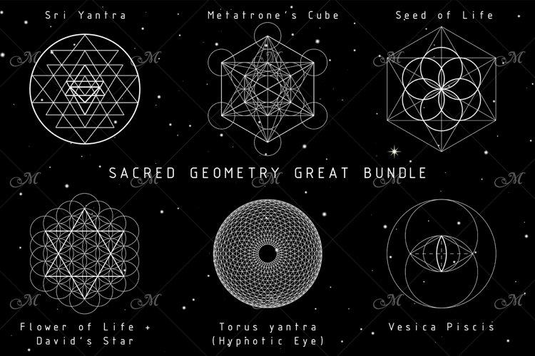 Sacred Geometry Great Bundle PNG/EPS example image 1