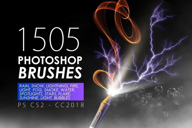 1505 Visual Effect Photoshop Brushes example image 1