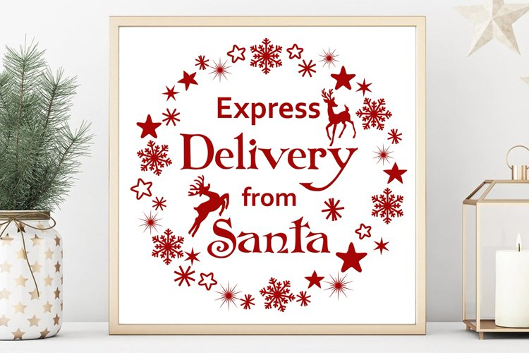 Santa svg Christmas shirts svg Winter svg Santa letter example image 1