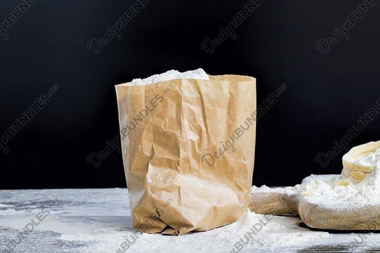 poured white wheat flour example image 1