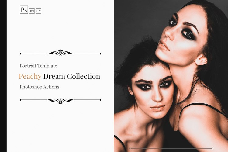 Neo Peachy Dream Color Grading photoshop actions example image 1