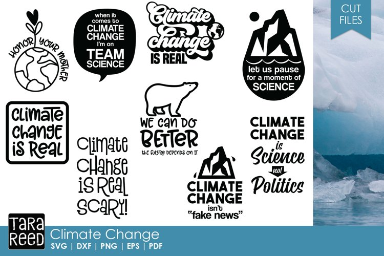 Climate Change - Conservation SVG and Cut Files for Crafters example image 1