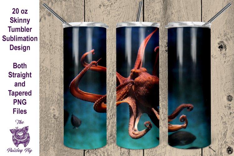 Octopus 20 oz skinny Tumbler Sublimation File