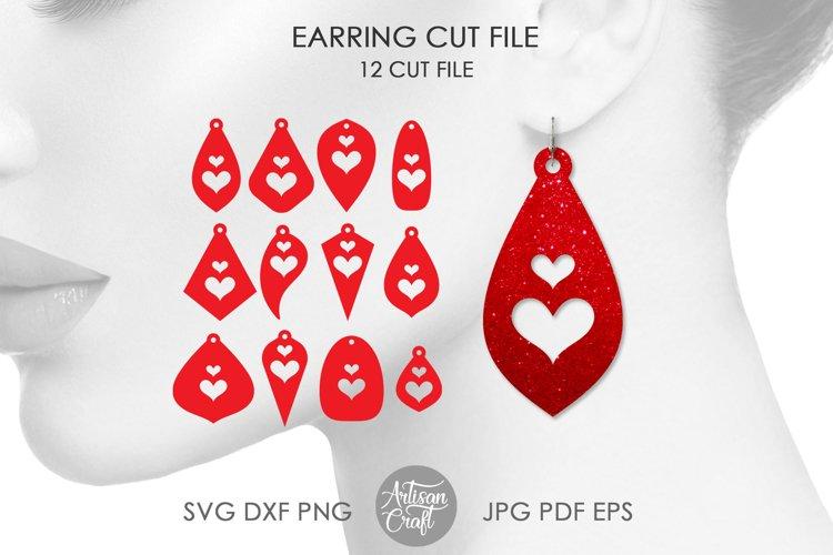 Earrings SVG, Heart earrings svg, Tear Drop SVG, cut file
