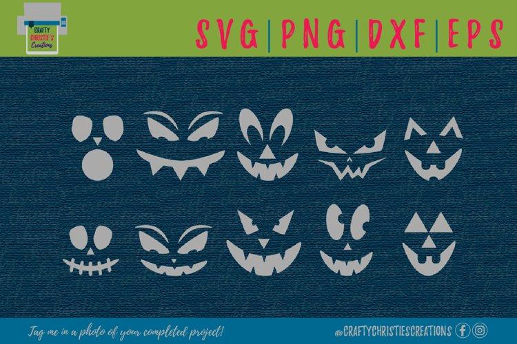 Pumpkin Faces SVG - Jack O Lantern SVG - Halloween SVG