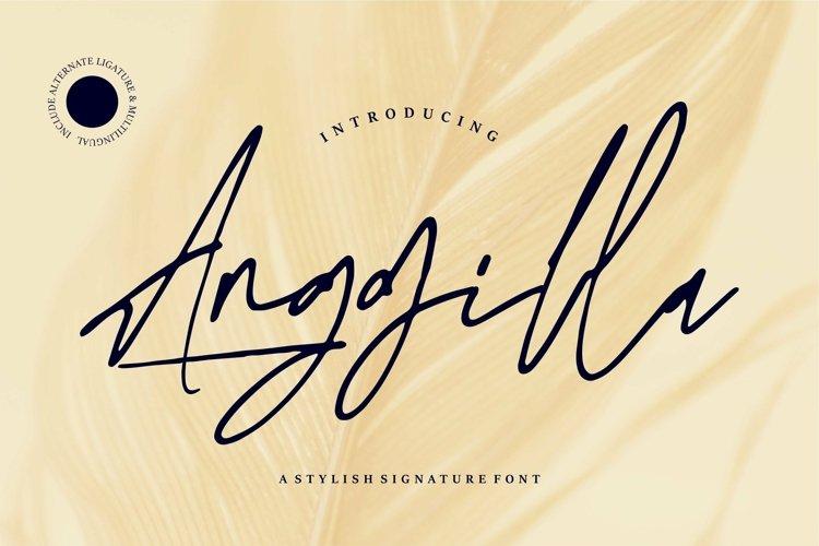 Web Font Anggilla - A Stylish Signature Font example image 1
