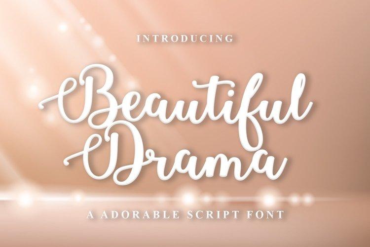 Web Font Beautiful Drama