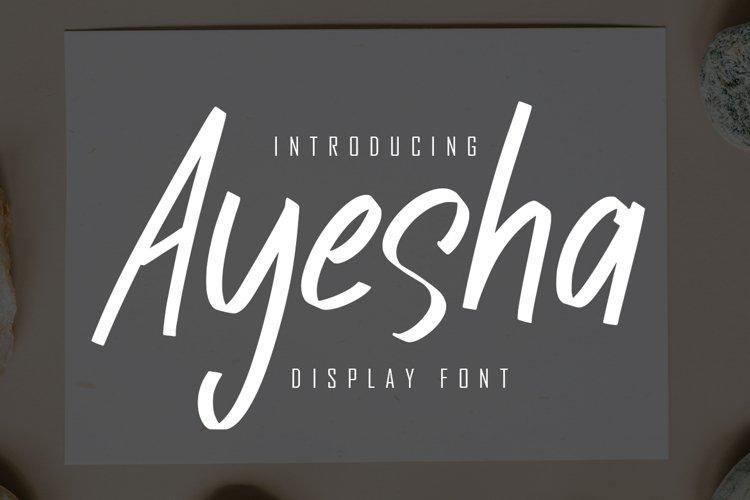 Ayesha Display Font example image 1