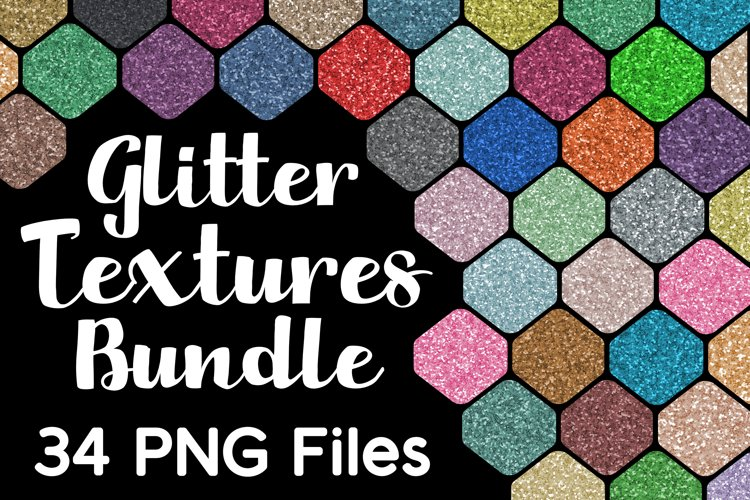 Glitter Textures Bundle 34 PNG Files example image 1