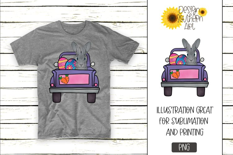 Easter Sublimation Designs for Tshirts Easter Bunny Truck