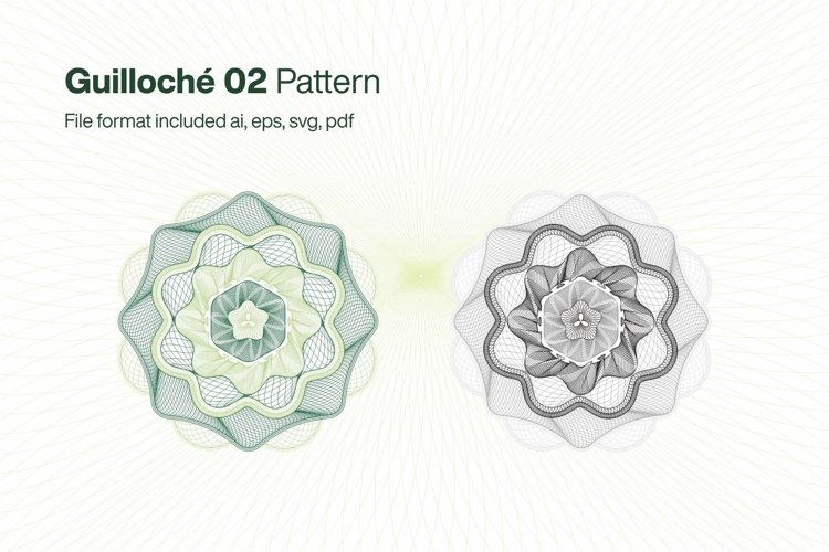 Guilloche 02 Pattern example image 1