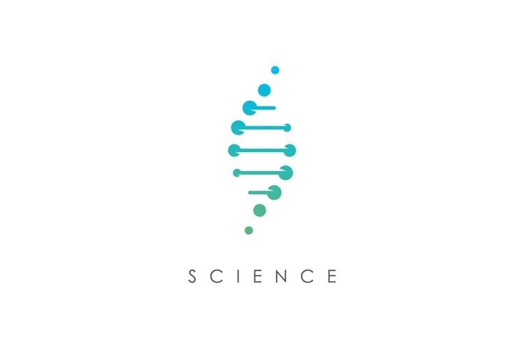 Genetic science logo design template
