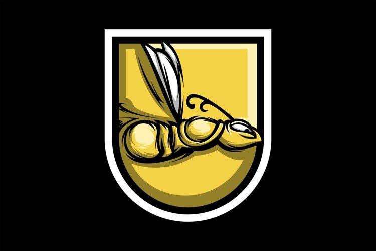 bee gaming logo design vector example image 1