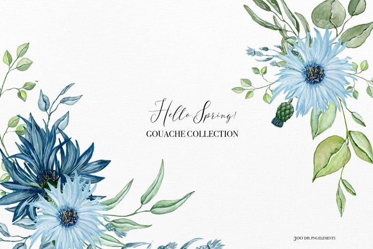 Hello spring - Gouache collection, spring bouquets clipart