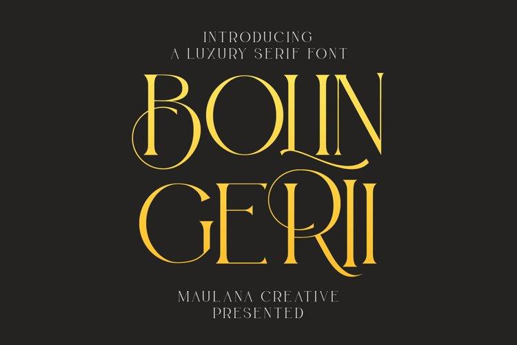 Bolin Gerii Luxury Serif Font example image 1