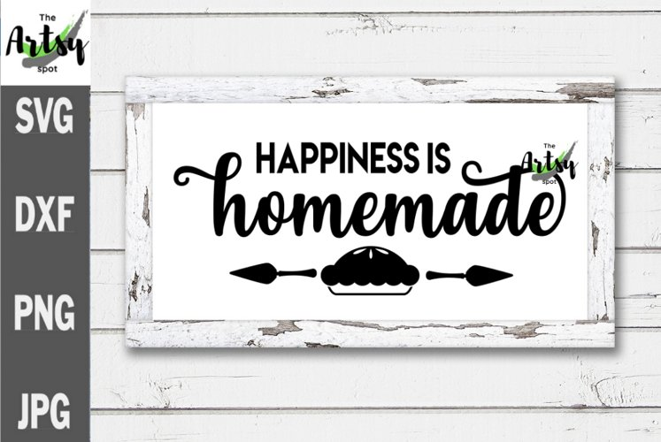 Happiness is Homemade, Noodle board svg, Noodle board decal