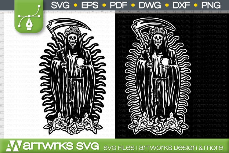 Santa Muerte clip art decal Religious svg by Artworks SVG example image 1