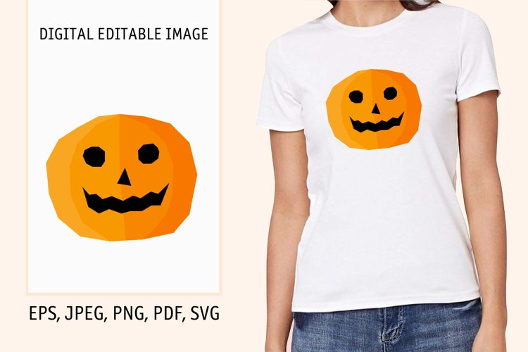 Cartoon pumpkin print. Digital editable pattern example image 1