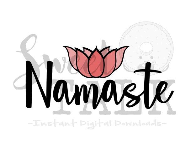 Namaste Lotus flower-svg,dxf,png,jpg, Instant Digital Download example image 1