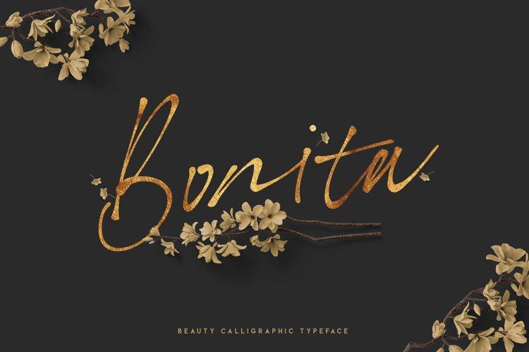 Bonita. Script font family.
