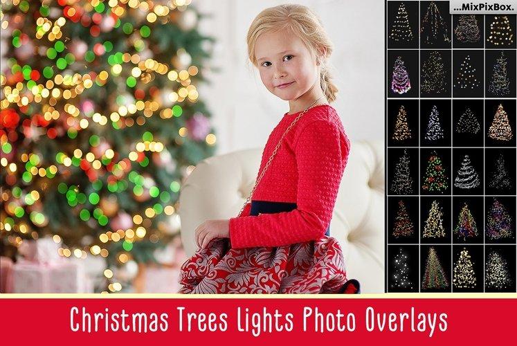 Christmas Trees Lights Overlays example image 1
