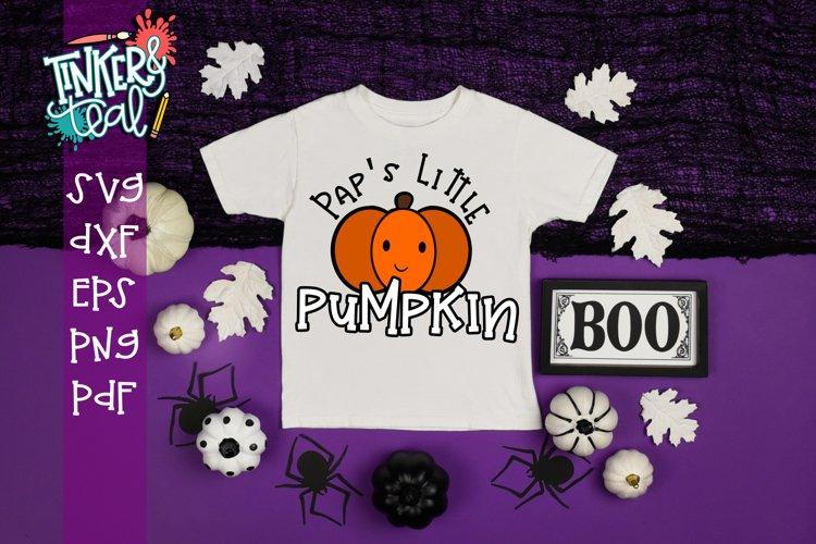 Pap's Little Pumpkin Fall SVG example image 1