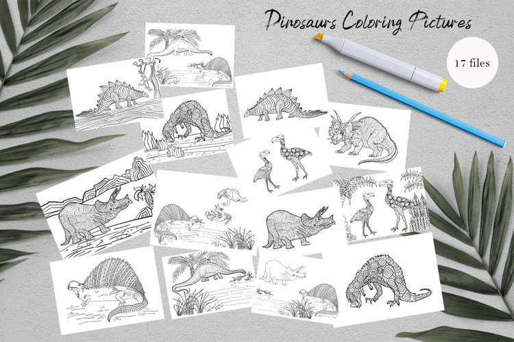 Dinosaurs Coloring for print | Dinosaur Party