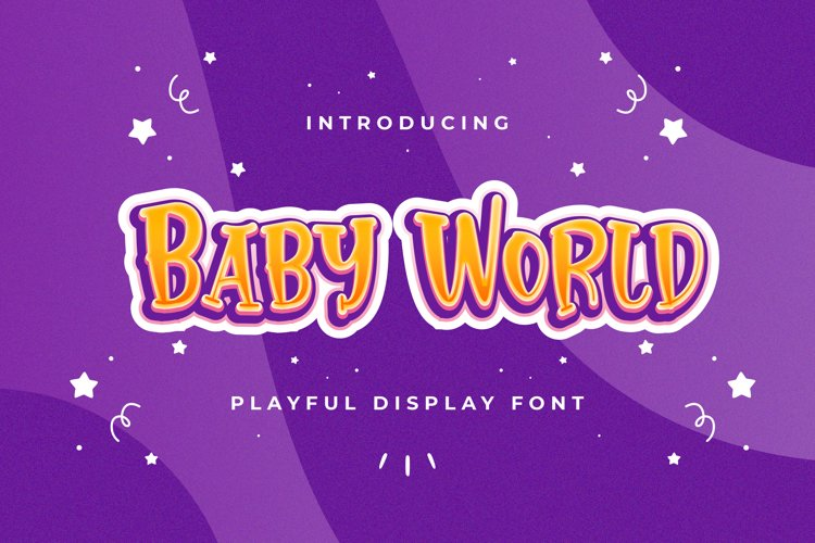 Baby World - Playful Display Font example image 1