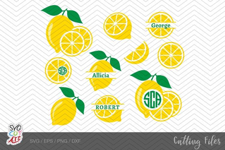 Lemon SVG, Lemon Monogram, Lemonade, fruit, summer