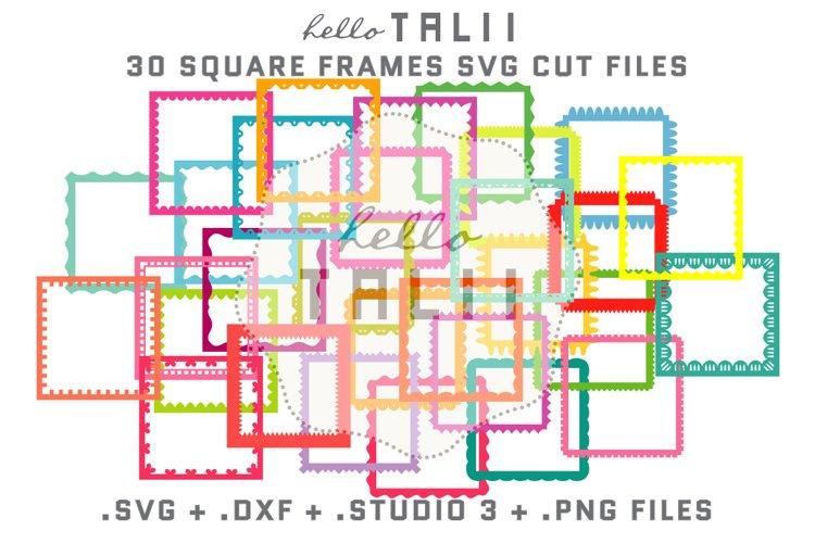 Square Frames SVG Cut Files BUNDLE example image 1
