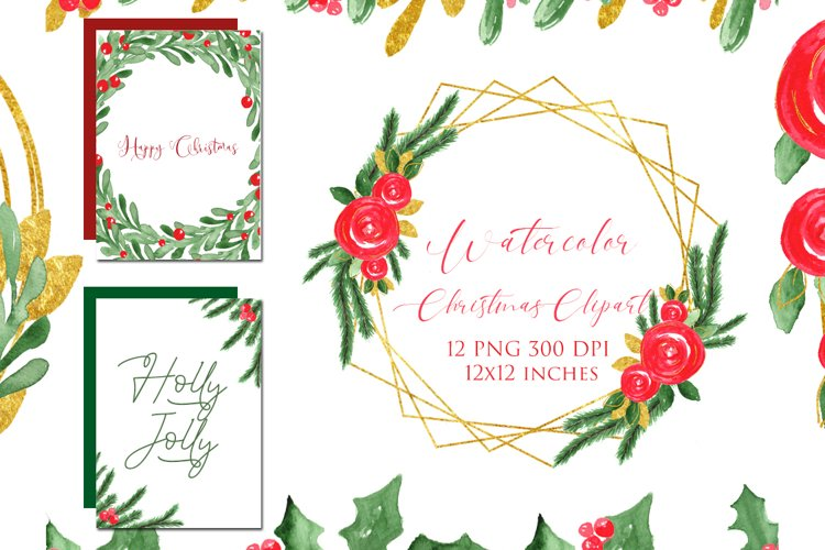Watercolor Floral Frames Card Borders Backgrounds,Clipart example image 1