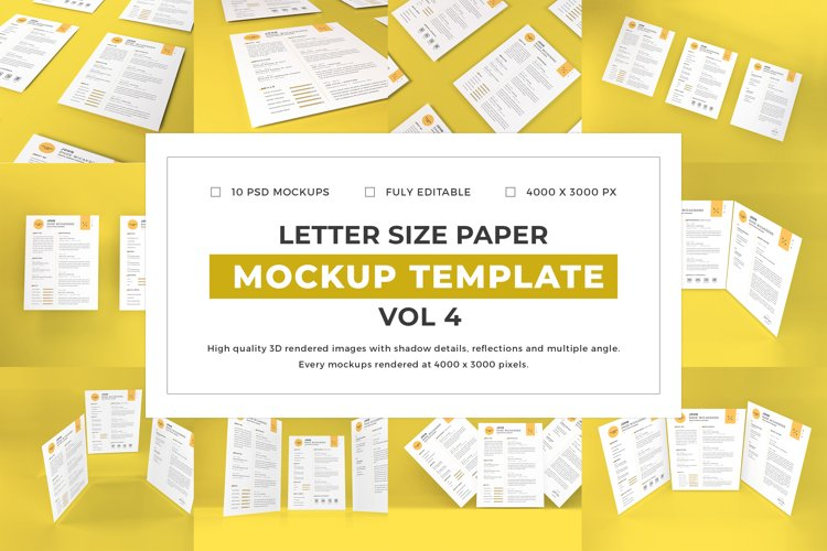 Letter Size Paper Mockup Template Vol 4 example image 1