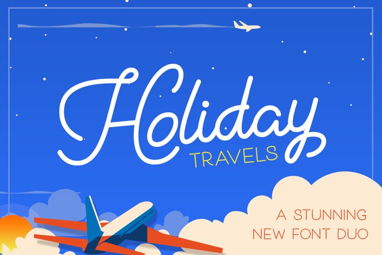 Holiday Travel Font Duo example image 1