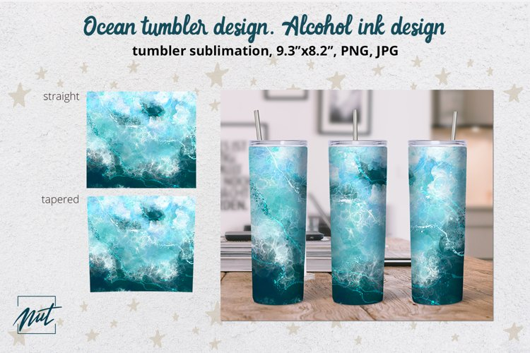 Tumbler design | Ocean tumbler sublimation design