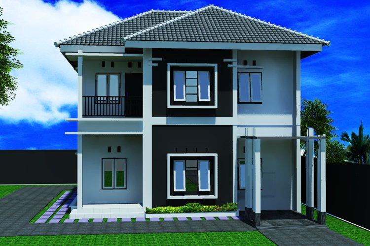 Minimalis Home 3D 2D 2nd floor