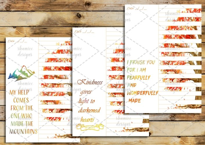 Orange Watercolor Bible  Study Journaling printable pages