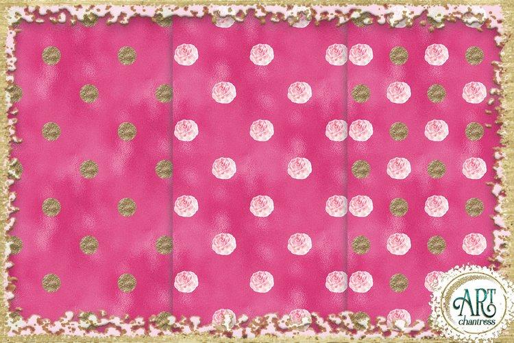 Glitter digital paper-pink,white,gold-digital textures JPEG example 4